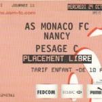 Billet Monaco-Nancy - Saison 2008-2009 - L1 (11e j., 29/10/2008)
