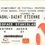 Billet Nancy-St-Étienne - Saison 2008-2009 - L1 (16e j., 30/11/2008)