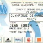 Billet Marseille-Nancy - Saison 2008-2009 - L1 (19e j., 21/12/2008)