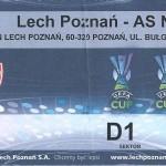 Billet Lech Poznan-Nancy - Saison 2008-2009 - Coupe UEFA (match de poule #2)