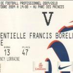 Billet Paris SG-Nancy - Saison 2009-2010 - L1 (8e j., 03/10/2009)