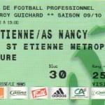 Billet St-Étienne-Nancy - Saison 2009-2010 - L1 (29e j., 20/03/2010)