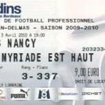 Billet Bordeaux-Nancy - Saison 2009-2010 - L1 (31e j., 03/04/2010)