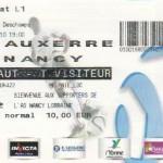 Billet Auxerre-Nancy - Saison 2010-2011 - L1 (7e j., 25/09/2010)