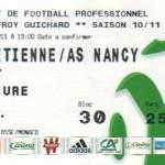 Billet St-Étienne-Nancy - Saison 2010-2011 - L1 (31e j., 16/04/2011)
