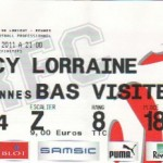 Billet Rennes-Nancy - Saison 2010-2011 - L1 (37e j., 21/05/2011)