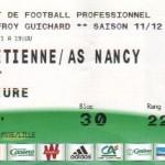 Billet St-Étienne-Nancy - Saison 2011-2012 - L1 (2e j., 13/08/2011)