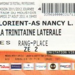 Billet Lorient-Nancy - Saison 2011-2012 - L1 (4e j., 27/08/2011)