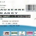 Billet Auxerre-Nancy - Saison 2011-2012 - L1 (21e j., 28/01/2012)