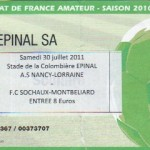 Billet Nancy-Sochaux - Saison 2011-2012 - Match amical (30/07/2011)