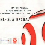 Billet Nancy-Épinal - Saison 2011-2012 - Match amical  (27/07/2011)