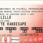 Billet Nancy-Lille - Saison 2012-2013 - L1 (20e j., 12/01/2013)