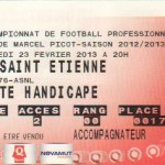 Billet Nancy-St-Étienne - Saison 2012-2013 - L1 (26e j., 23/02/2013)