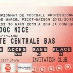 Billet Nancy-Nice - Saison 2012-2013 - L1 (29e j., 16/03/2013)