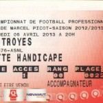 Billet Nancy-Troyes - Saison 2012-2013 - L1 (31e j., 06/04/2013)