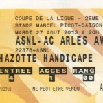 Billet Nancy-Arles-Avignon - Saison 2013-2014 - Coupe de la Ligue (2e tour, 27/08/2013)