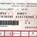 Billet Dijon-Nancy - Saison 2013-2014 - L2 (15e j., 22/11/2013)