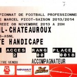 Billet Nancy-Châteauroux - Saison 2013-2014 - L2 (14e j., 08/11/2013)