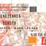 Billet Nancy-Valenciennes - Saison 2006-2007 - L1 (33e j., 21/04/2007) [Collection privée ticketsva.wifeo.com]