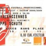 Billet Nancy-Valenciennes - Saison 2008-2009 - L1 (31e j., 11/04/2009) [Collection privée ticketsva.wifeo.com]
