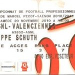 Billet Nancy-Valenciennes - Saison 2010-2011 - L1 (14e j., 20/11/2010) [Collection privée ticketsva.wifeo.com]