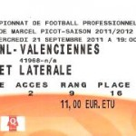 Billet Nancy-Valenciennes - Saison 2011-2012 - L1 (7e j., 21/09/2011) [Collection privée ticketsva.wifeo.com]