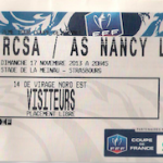 Billet Strasbourg-ASNL - Saison 2013-2014 - Coupe de France (7e tour, 17/11/2013)  [Collection privée Thimotée M.]