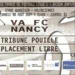 Billet Valenciennes-Nancy - Saison 2009-2010 - L1 (1e j., 08/08/2009) [Collection privée ticketsva.wifeo.com]