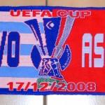 Écharpe La Corogne- Nancy - Saison 2008-2009 - Coupe UEFA (match de poule #5, 17/12/2008)