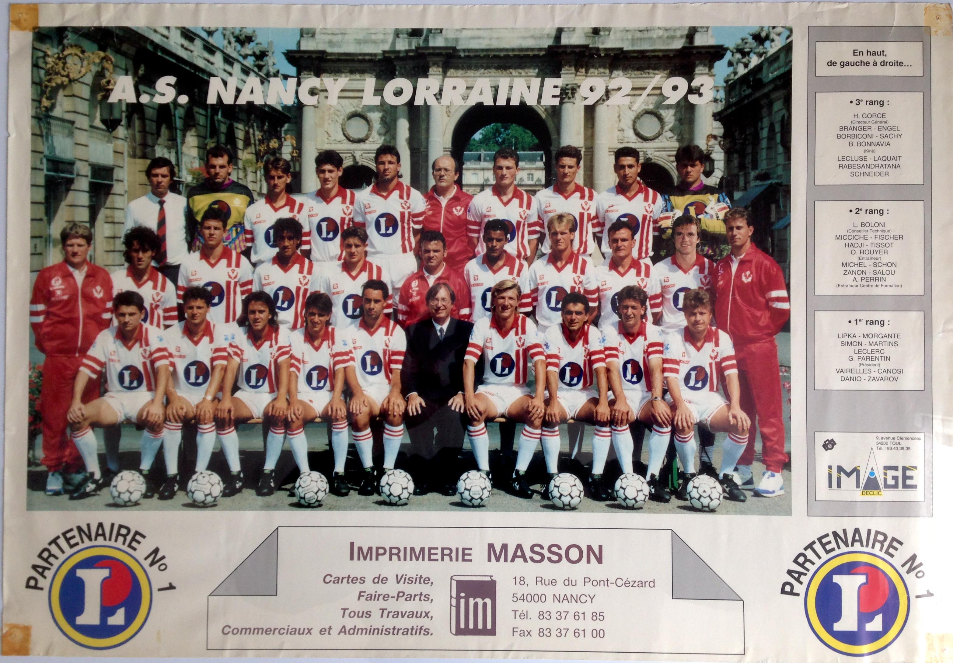 Poster ASNL Saison 1992-1993