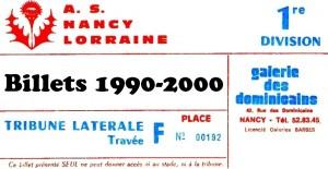 Vignette Billets 1999-2000