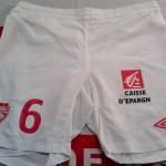 Short championnat domicile préparé (Pascal Berenguer) – Saison 2011-2012 [Collection privée d'ASNL-Infos (Officiel)]