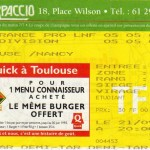 Billet Toulouse-Nancy - Saison 1994-1995 - D2 (11e j., 21/09/1994) [Collection privée Didier supporter toulousain pour la paix entre supporters]