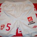 Short championnat domicile porté/préparé (André Luiz) - Saison 2010-2011 [Collection privée d'ASNL-Infos (Officiel)]