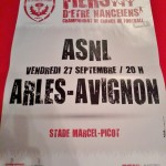 Affiche Nancy-Arles-Avignon - Saison 2013-2014 - L2 (9e j., 27/09/2013) [Collection privée d'ASNL-Infos (Officiel)]