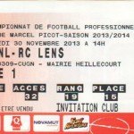 Billet Nancy-Lens - Saison 2013-2014 - L2 (16e j., 30:11:2013)