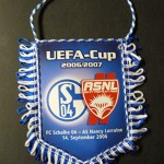 Fanion Schalke 04 - Nancy [collection privée Red Thistle]