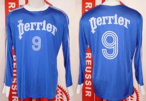 Maillot Coupe de France porté (Michel Platini) - quart de finale à Valenciennes 14-04-78 - saison 1977-1978
