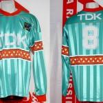 Maillot championnat extérieur porté (Alexander Zavarov) - saison 1990 1991