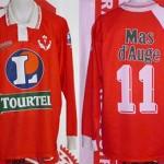 Maillot championnat extérieur porté (Mustapha Hadji) - saison 1994 1995