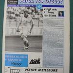 Programme Auxerre - Nancy - L.1 J°01 - saison 1999/2000