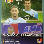 Programme Dijon - Nancy - L.2 J°05 - saison 2004/2005 [Collection privée Red Thistle]
