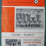 Programme Lyon - Nancy D.1 J°20 - saison 1979 1980 [Collection privée Red Thistle]
