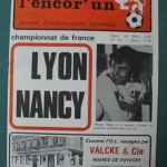 Programme Lyon - Nancy - D.1 J°28 - saison 1977/1978 [Collection privée Red Thistle]