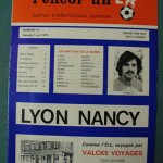 Programme Lyon - Nancy - D.1 J°31 - saison 1978/1979 [Collection privée Red Thistle]