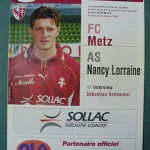 Programme Metz - Nancy L.1 J°08 - saison 1998/1999 [Collection privée Red Thistle]