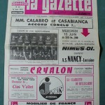 Programme Nîmes - Nancy - D.1 J°37 - Saison 1975/1976 [Collection privée Red Thistle]
