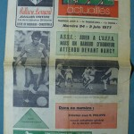Programme Saint Etienne - Nancy - D.1 J°37 - saison 1976/1977 [Collection privée Red Thistle]