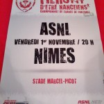 Affiche Nancy-Nimes - Saison 2013-2014 - L2 (13e j., 01/11/2013) [Collection privée samgi]