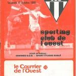 Programme Angers Nancy - 15eme journée saison 1980 1981